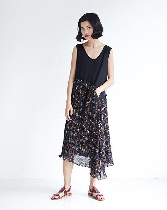 Estate floreale Sundress abito Patchwork maglia di di lanbao