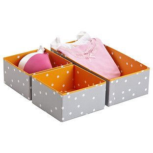 Bigso Pippi Orange Drawer Organizers