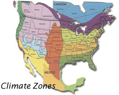 Climate Map For Selecting Type of Grass