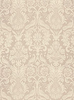 Alexandra Damask-Schumacher Fabric Anna Damask-Greige Price Per Yard: $145.25 #Interiors #Damask #Decor