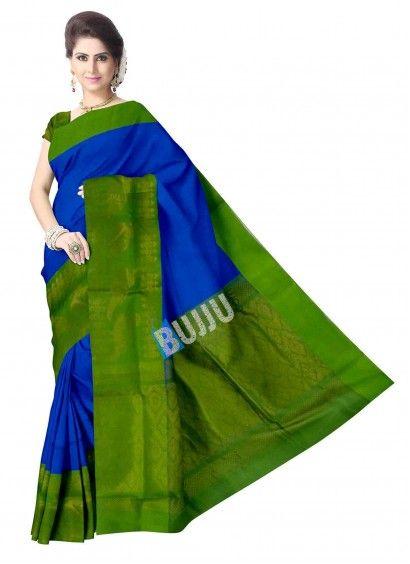 Ananda Blue Uppada Handloom Sico Saree & Blouse Product code: UHUP11S009 Retail price: 8,762/- Sale price : 8,344/-