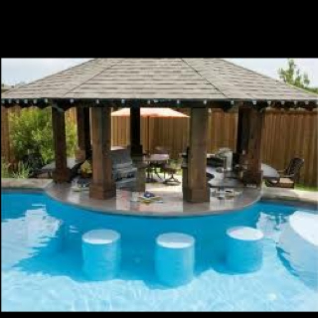 14 best images about pool bars on pinterest swim for Pool design with swim up bar