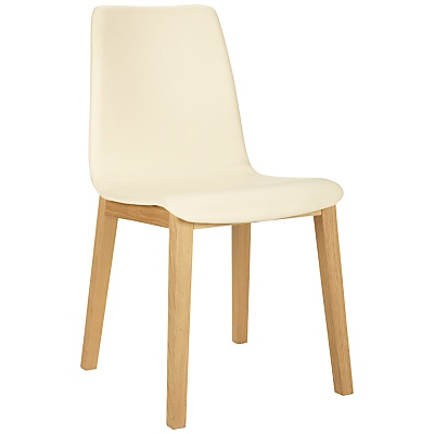 Buy Bethan Gray for John Lewis Noah Leather Upholstered Dining Chair, Cream online at JohnLewis.com - John Lewis