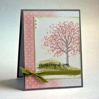 Sheltering Tree - Stampin Up - Workshop card