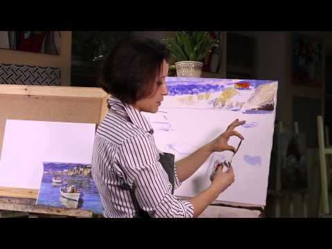 МАСТЕР КЛАСС ЖИВОПИСИ. Пейзаж акрилом. Уроки живописи и рисования. Oil painting lesson - YouTube