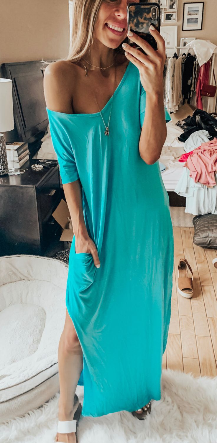 blue dress #spring #outfits