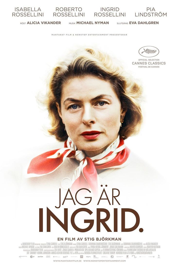 """Jag är Ingrid - Recension: Våren 2011 träffar regissören Stig Björkman Ingrid Bergmans dotter Isabella Rossellini på filmfestivalen i Berlin. Isabella föreslår att han ska """"göra en film om mamma"""". Genom Isabella får Stig tillgång till en av filmhistoriens största skådespelerskor, och möjligheten att berätta Ingrid Bergmans historia med hennes egna ord och bilder."""