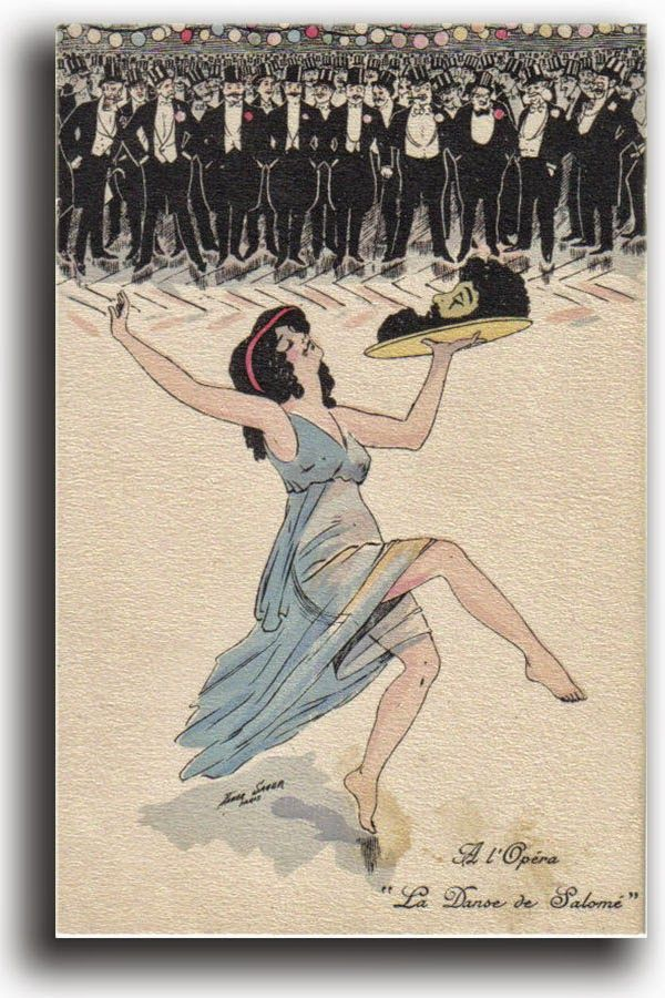 1907 ART NOUVEAUX POSTCARD Lithograph's XAVIER SAGER