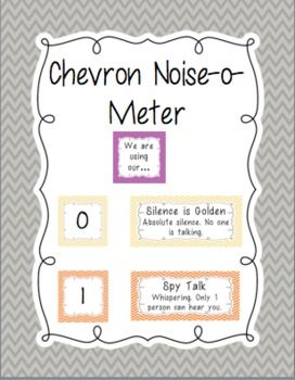 Noise-o-meter: Noise Level in the Classroom (Chevron)                                                                                                                                                                                 More