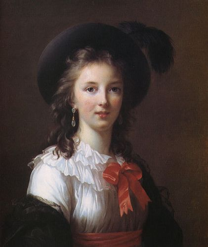Self-Portrait - Elisabeth Louise Vigee-Lebrun, 1781    The artist at about 26 years old.    She was favored by Marie Antoinette and was one of the most prolific female artists of her day.