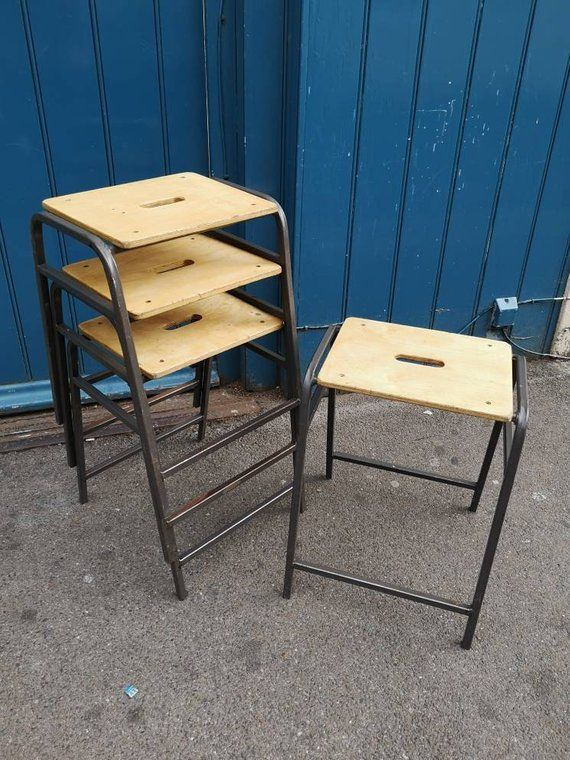 Admirable Set Of Four 1970S School Laboratory Art Room Stacking Stools Forskolin Free Trial Chair Design Images Forskolin Free Trialorg