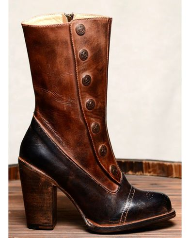 Oak Tree Farms Amelia Black Teak Boots - Round Toe | Sheplers