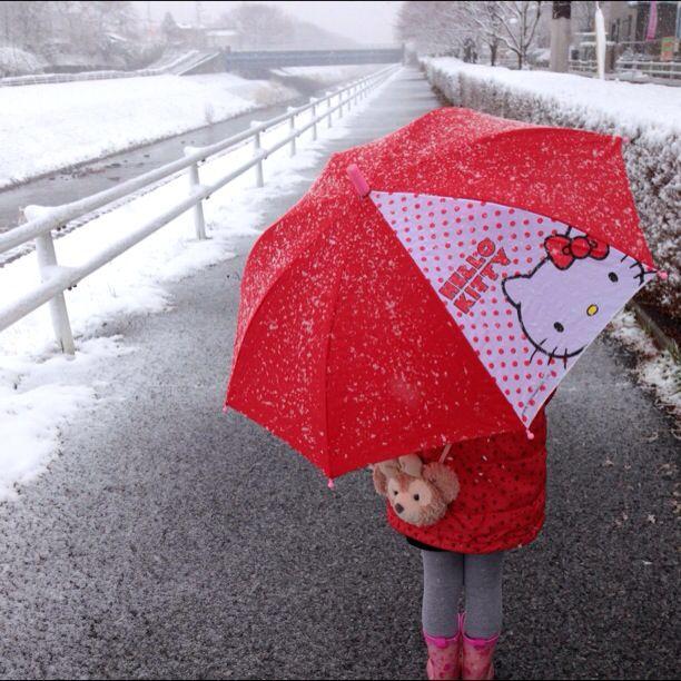 2月14日 雪の中、 小学校の入学説明会へ行ってきました。