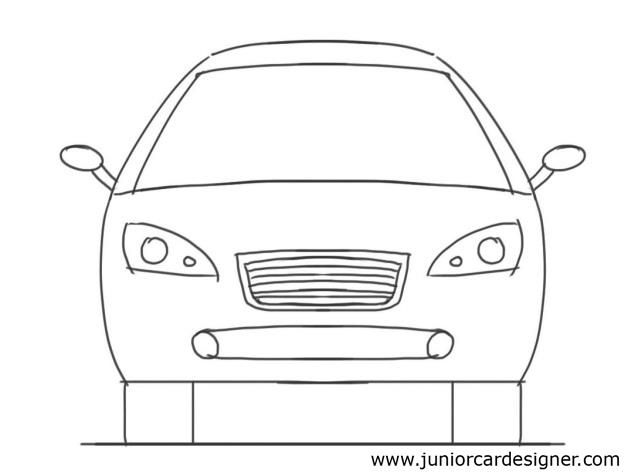 How To Draw Car Front