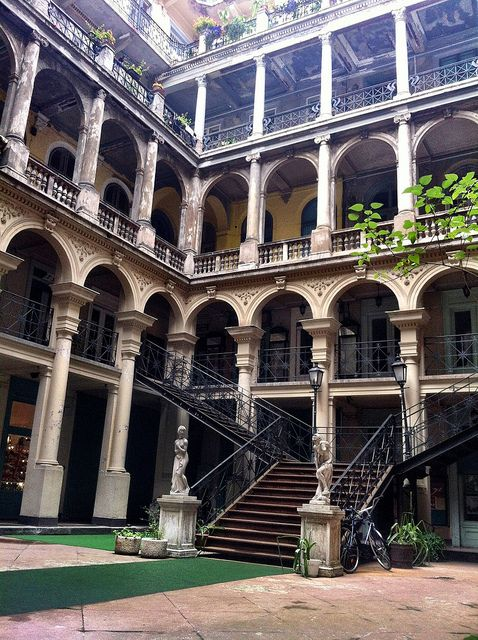 One typical courtyard in Budapest.