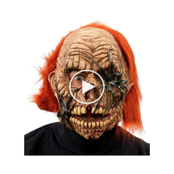 Corpse Zombie Full Mask with Red Hair in 2020 Red hair
