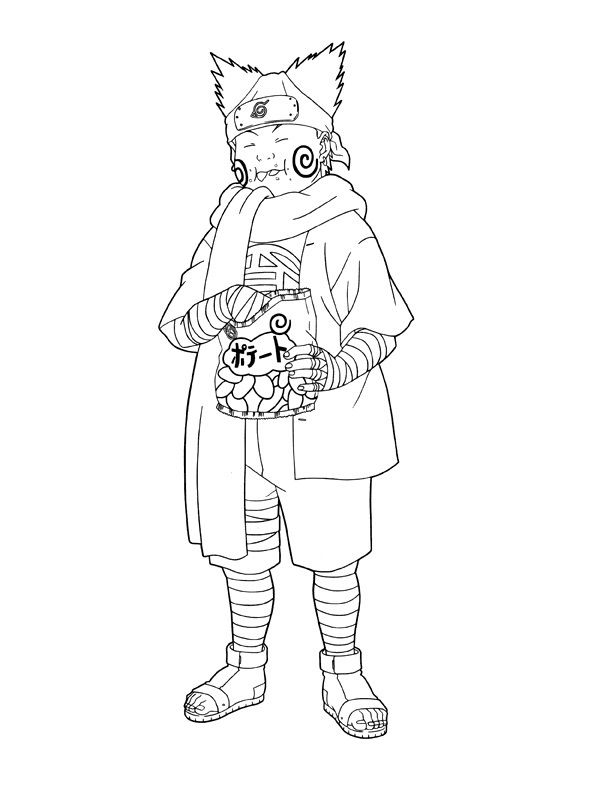 akimichi chouji coloring pages for kids printable naruto coloring pages for kids