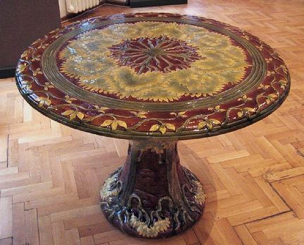 Zsolnay Ceramic Round Table