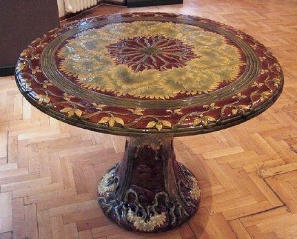 Zsolnay Ceramic Round Table