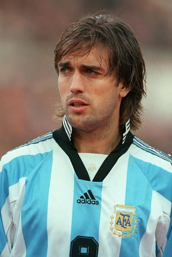 One of the most handsome soccer players of all time... Gabriel Omar Batistuta..