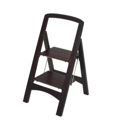 Cosco Rockford 2 Step Wood Stool Mahogany My Dream