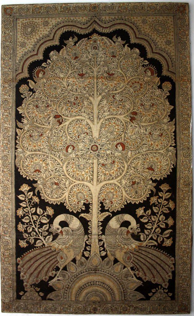 Kalamkari Tree Of Life In 2020 Tree Of Life Painting