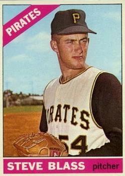 1966 Topps 344 Steve Blass Pittsburgh Pirates baseball card