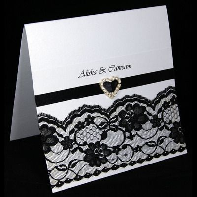 handmade invitation :) love this but would leave off the lace.