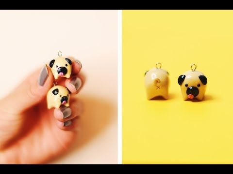 DIY PUGS  POLYMER CLAY CHARM TUTORIAL + GIVEAWAY! ✨ - YouTube