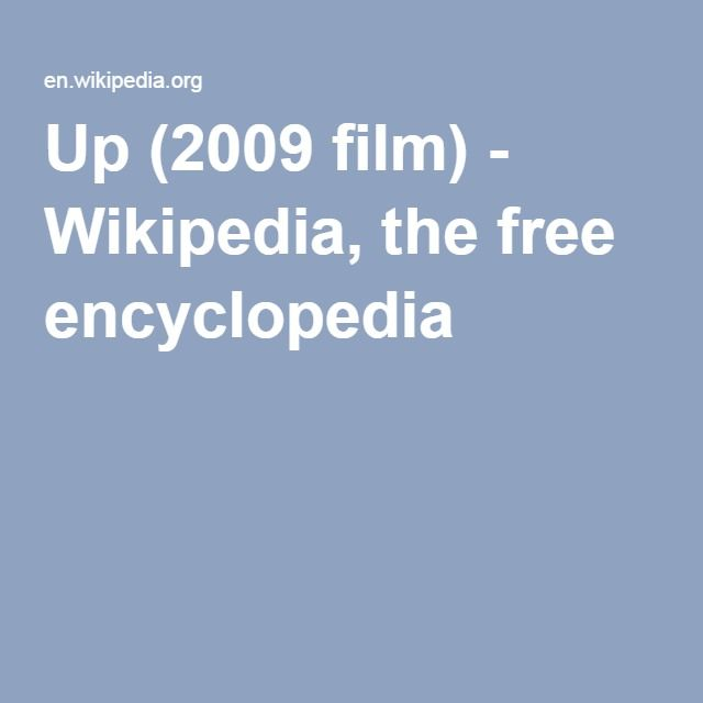 Up (2009 film) - Wikipedia, the free encyclopedia