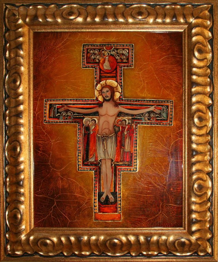 Chrystus ukrzyżowany techn.malowane na szkle Danuta Rożnowska-Borys