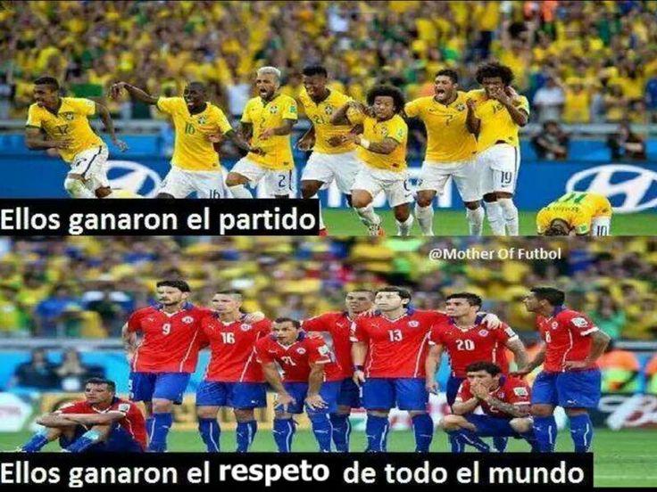 "Muy lindo mensaje enviado por una amiga venezolana. The top part says ""they won the game"". Bottom says ""they won everybody's respect"". Proud to be Chilean!"