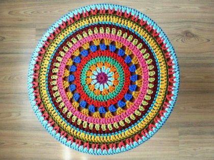 saiba como fazer tapete mandala de croche