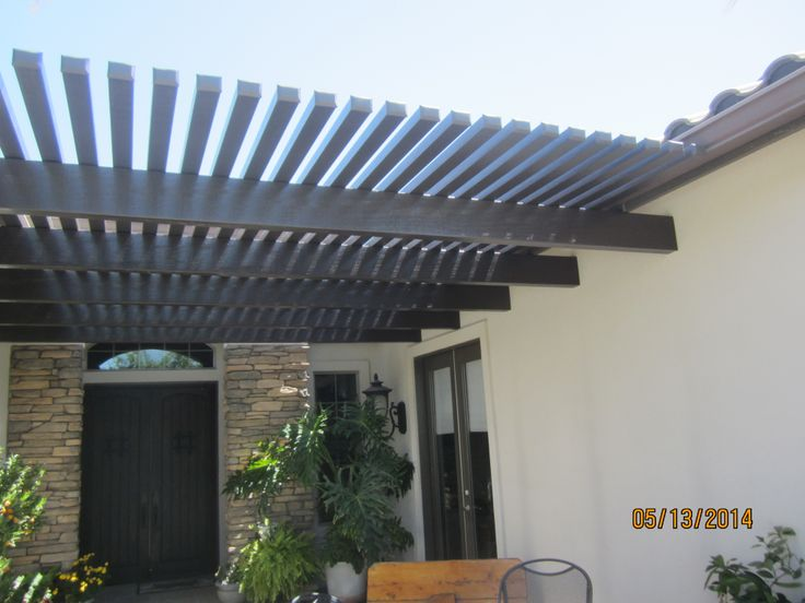 What a great addition to this home! It provides a bit of shade and it looks great!