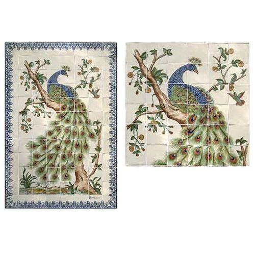 Peacock Tile Mural
