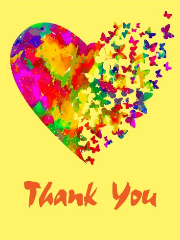 90 best thank you images on pinterest thanks appreciation cards send free rainbow butterfly thank you card to loved ones on birthday greeting cards by davia its free and you also can use your own customized birthday m4hsunfo