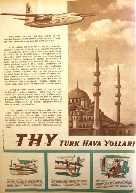 OĞUZ TOPOĞLU : f 27 fairchild fokker 27 türk hava yolları 1960 se...