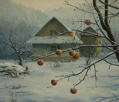 Winter Painting by Igor Ropyanyk Ukranian Artist