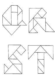 tangram lettre