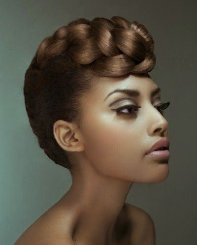 Braided Pompadour Hairstyle Natural Hair Styles Black
