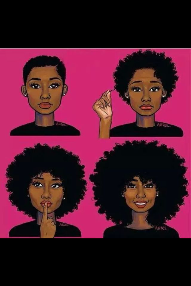 17 Images About Natural Hair Stages On Pinterest My