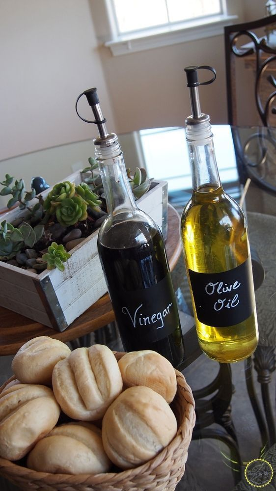 DIY:: Repurpose Empty Wine Bottles into Chic Olive Oil & Balsamic Holders! Make Great Gifts Too !