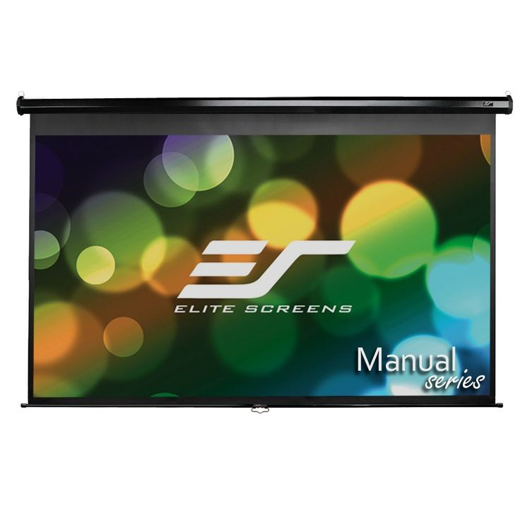 Elite Screens Manual, 86-inch 16:10, Pull Down Projection Manual Projector Screen with Auto Lock, M86UWX