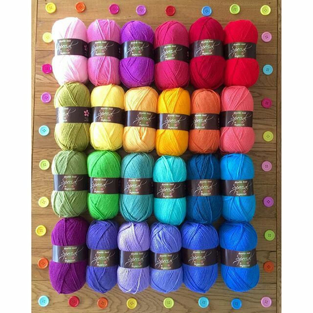 @fairytaleyarns ... Love these! They'd be a great pallet for a temperature afghan