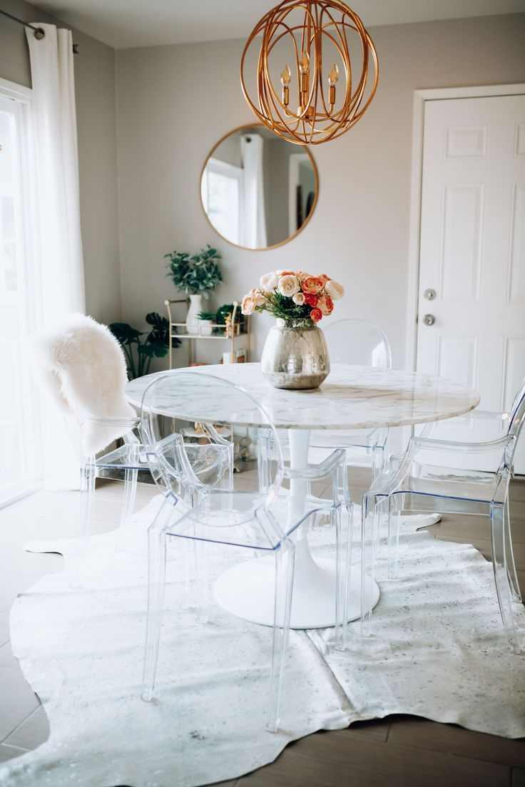 Faux Marble Dining Table Styled 2 Ways