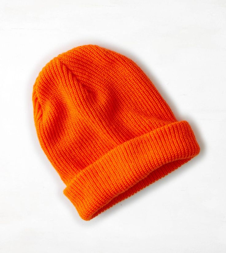 Safe Orange AEO Wear America Ribbed Beanie. Show us your #AEOSTYLE on Instagram or Twitter for a chance to be featured on AE.com.