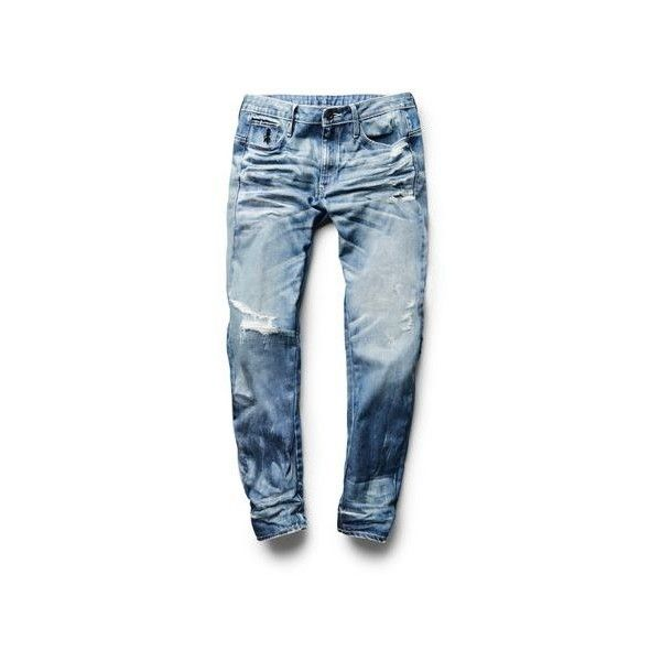 Myncoo Men's Skinny Ripped Jeans for Men Size 28-40 via Polyvore featuring men's fashion, men's clothing, men's jeans, mens torn jeans, mens distressed jeans, mens super skinny jeans, mens destroyed jeans e mens wide leg jeans