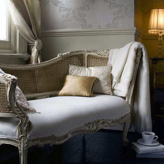 Powder Blue French Settee Pintowin Anthropologie