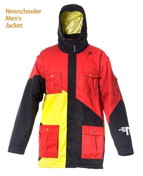 Newschoolers Jacket : Red  sale $125.98