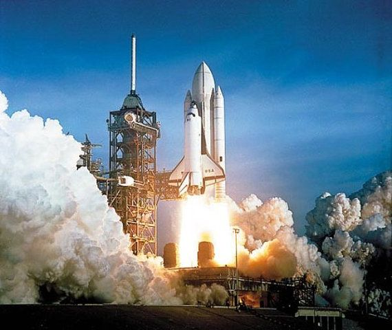 NASA Photograph - First Space Shuttle Columbia Launch c.1981 - Vintage Photo Print Reproduction on Etsy, $10.00